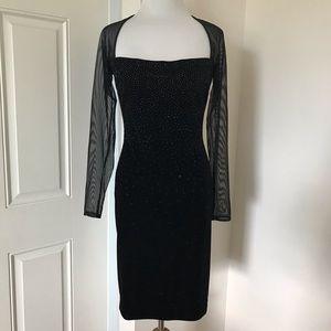 Tidashi Shoji Velvet Little Black Dress